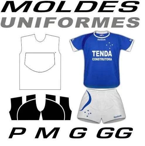 Moldes Uniformes Futebol Completo - R  9 431a9ca7d7d6e