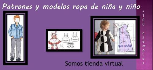 moldes y patrones ropa niña y niño