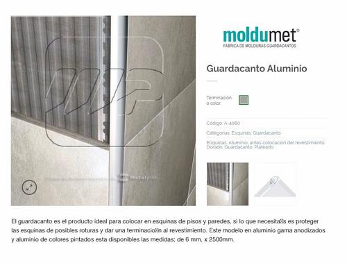 moldumet guardacanto aluminio mate 6x2500 cod a-4060