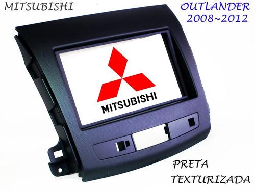moldura 2 din mitsubishi outlander 2006~2012 texturizado imp