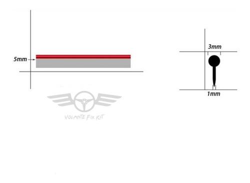 moldura a presion autos tuning universal + espatula fix 4mt