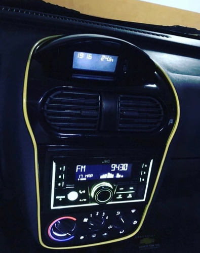 moldura a presion autos tuning universal + espatula itz 4mt