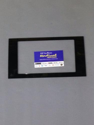 moldura acabamento pionner dvd preta audi a4 2006 a 2012