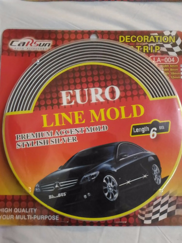 moldura adhesiva decora auto 4x4 10mm x 6mt cromada