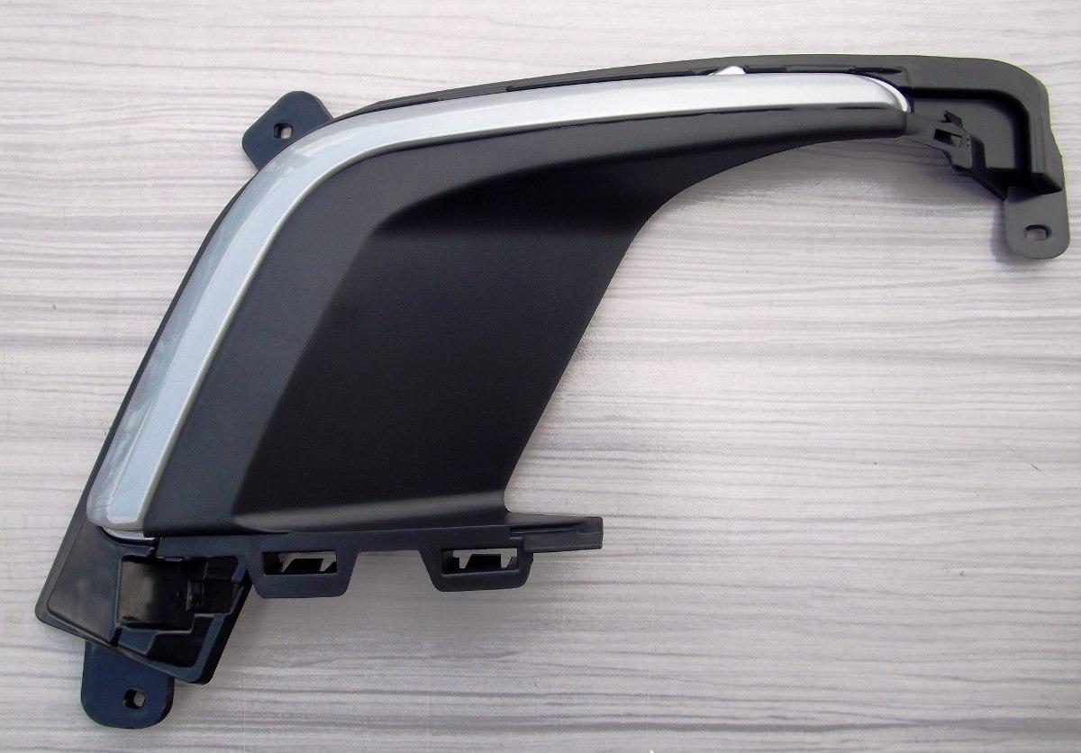 Moldura Aplique Cinza Com Grade Parachoque Dt Peugeot 308 ...