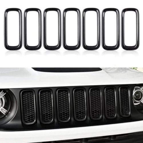 moldura aros grade frontal preto - jeep renegade até 2018
