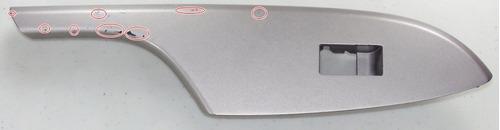 moldura botão d vidro dianteiro dir toyota corolla 09 á 2011