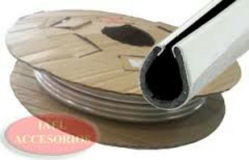 moldura cromada en forma u rollo 25 mts - maranello