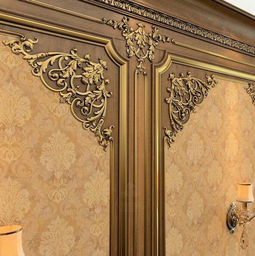 moldura de madera a medida boiserie aplique decorativo