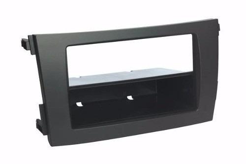 moldura de painel dvd 1 din corolla 2009 ao 2014 cor cinza