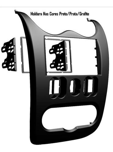 moldura de painel dvd 2 din multimídia  sandero 2011