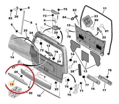 moldura de patente de  porton berlingo - partner linea vieja