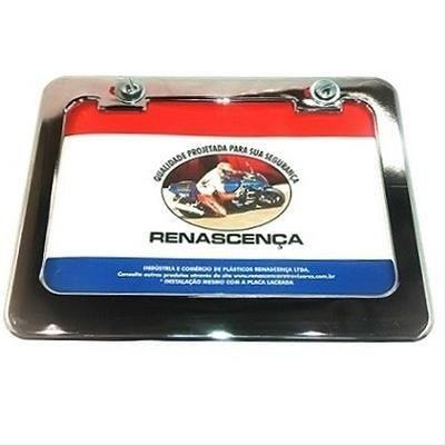 moldura de placa moto cromada c/parafuso 20x14 renascenca