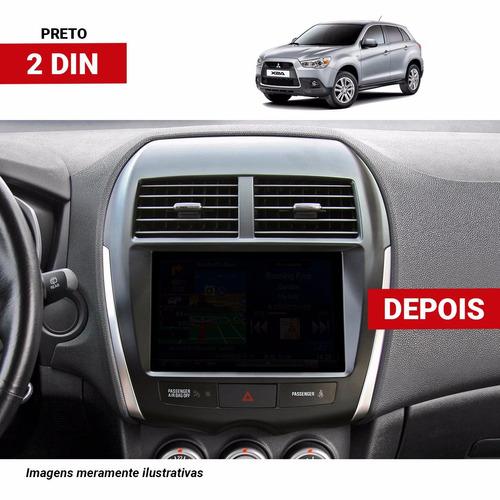 moldura dvd 2din mitsubishi asx com placa parking control