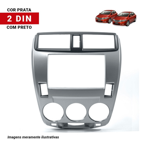 moldura dvd multimidia 2 din honda city ar analogico
