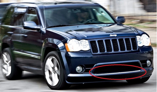moldura en facia defensa jeep grand cherokee srt-8 2006 2010