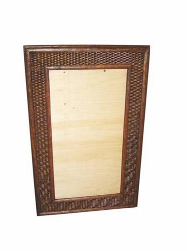 moldura espelho madeira junco sintético sala praia varanda