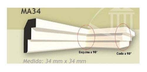 moldura esquinero interior ma25 aplique codo/ esquina