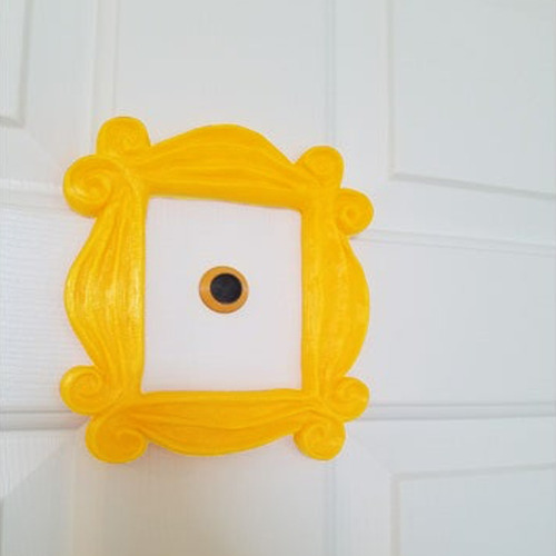 moldura friends olho mágico porta peephole + fita fixadora