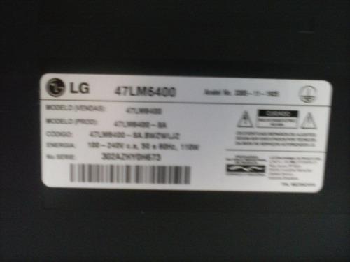 moldura frontal tv lg 47lm6400 led 3d