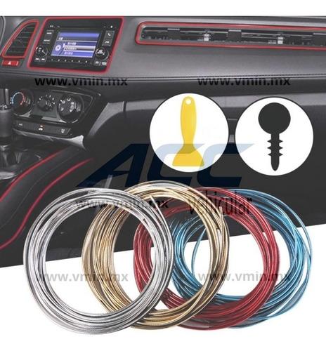 moldura interior vista decorativa brilla metálica auto 5m