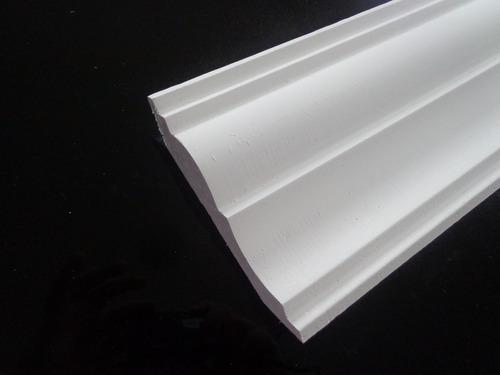 moldura isopor modelo-s03 roda teto(com acabamento)kit 10pçs