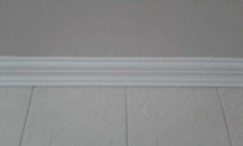 moldura isopor roda teto de 7 cm r$1,25 kit 28 peças 50 cm