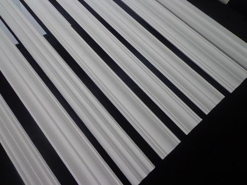 moldura isopor s02 roda teto metro linear (melhor que gesso)