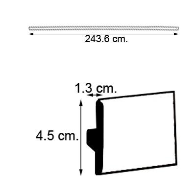 moldura laminada expansion 2.44m roble.