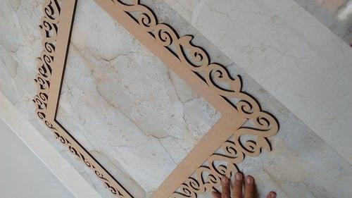 moldura mdf provençal 1m grande decor festa, foto,espelho