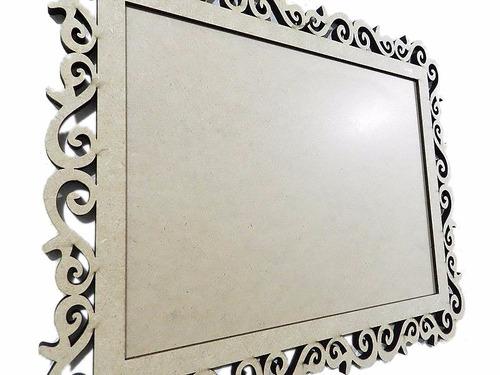 moldura mdf provençal grande decor festa, foto,espelho 80 cm