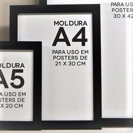 moldura oferta p/ 01 unidade tam a3, =30x42cm, c/ acrilico