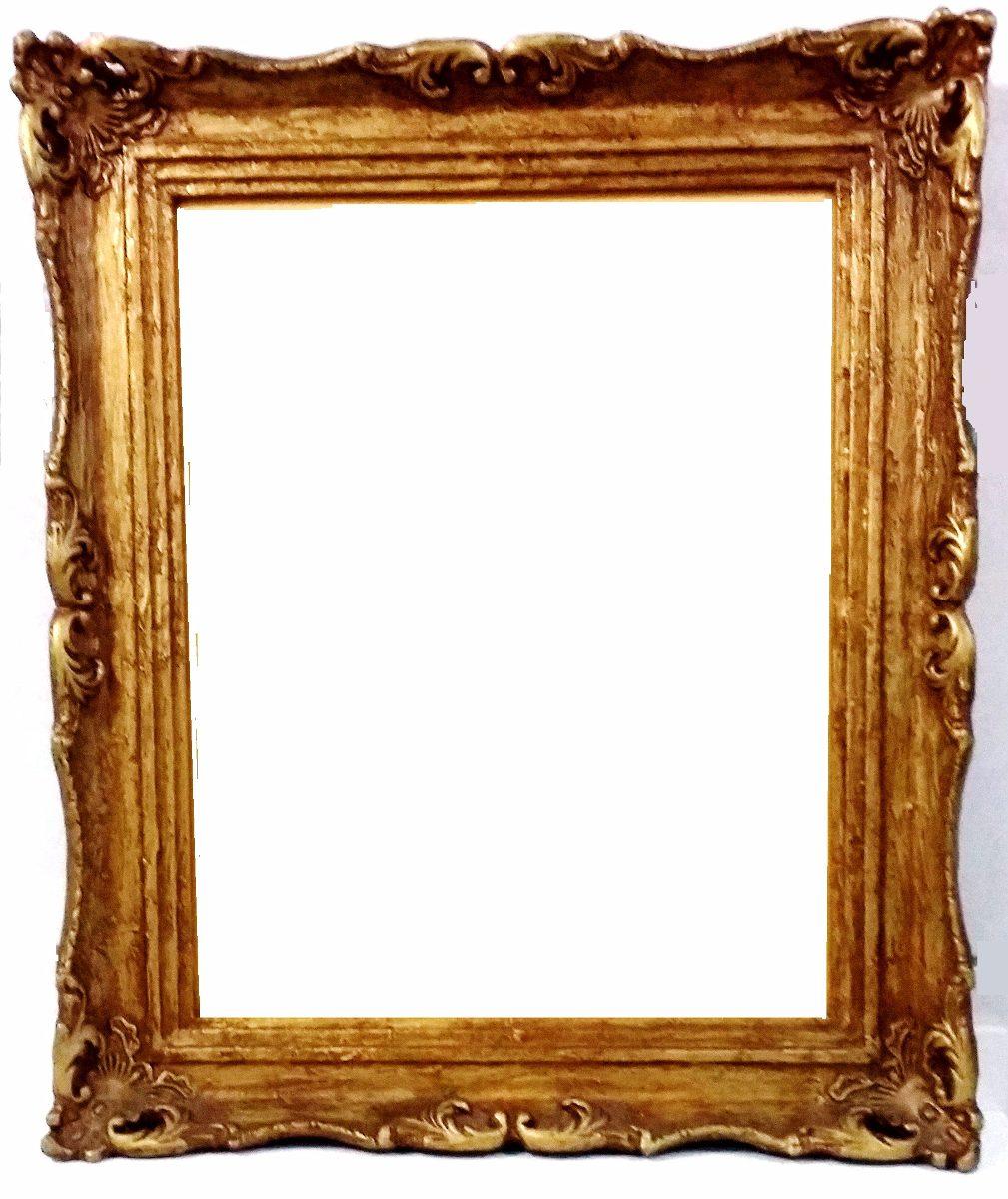 Moldura p quadro e espelho barroco rococ patinada ouro - Marcos clasicos para fotos ...