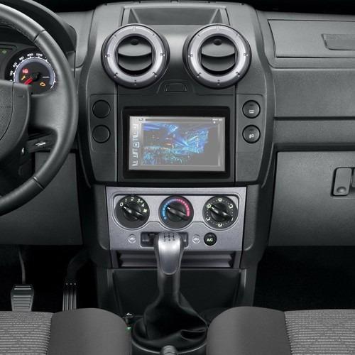 moldura painel  din dvd ford ecosport    preto   em mercado livre