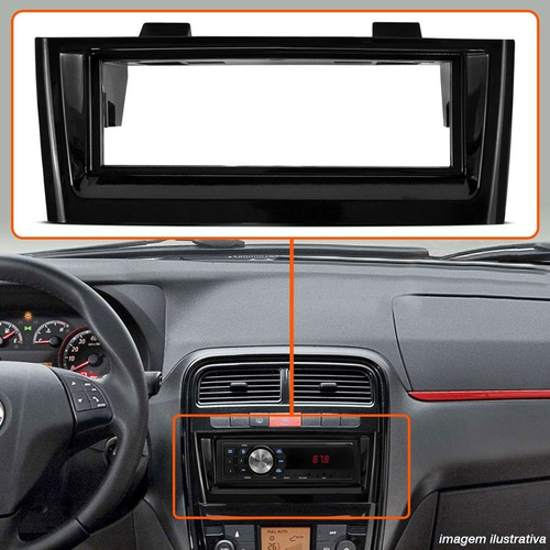 moldura painel punto linea p dvd retrátil cd player mp3 1din