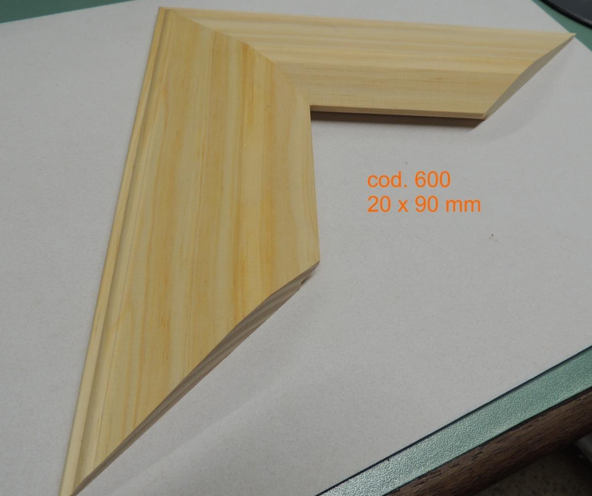 Moldura Para Cuadros - Espejo Pino Natural - $ 140,00 en Mercado Libre