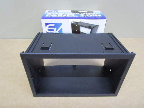 moldura para dvd multimídia 2 din vw polo 2002 a 2014