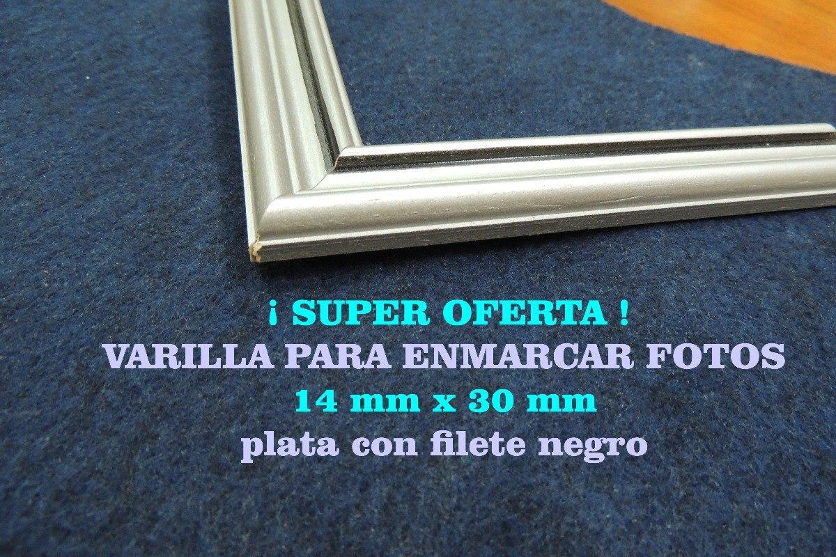 Moldura Para Enmarcar ,plata Y Filete Negro ¡ Oferta ! - $ 95,00 en ...