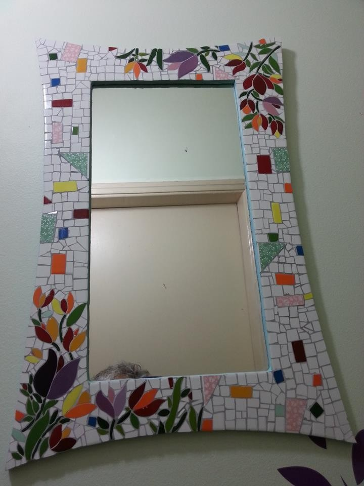 Moldura Para Espelho Em Mosaico R 180 00 Em Mercado Livre