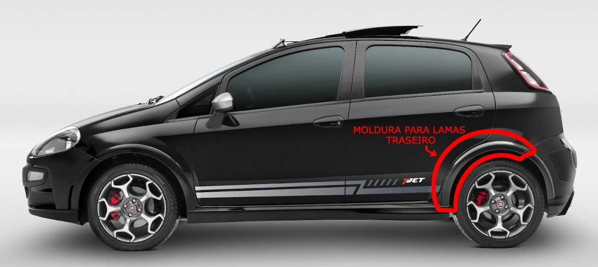 Moldura Para Lamas Traseiro Fiat Punto Tjet 13-15' Original - R$ 773 on palio t jet, bravo t jet, linea t jet,