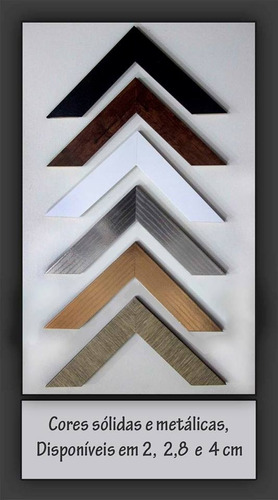 moldura perfil liso 2,8 cm  21x30 -  cor sólida ou metálica