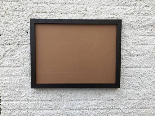 moldura preta para quadros com fundo em mdf 50x70cm