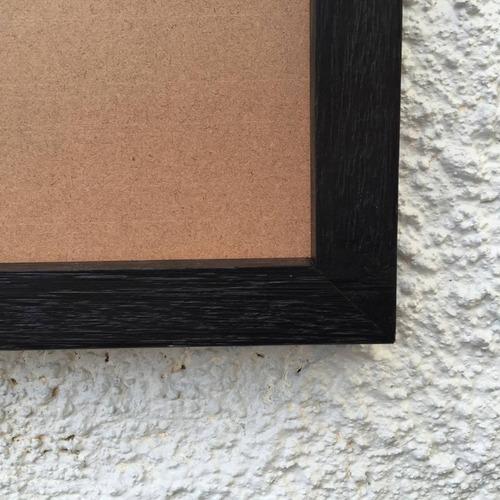 moldura preta para quadros com fundo mdf e acetato 30x40cm