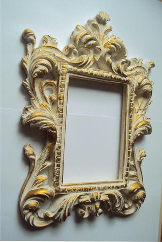 moldura ramada ii, pintura estilo provençal dourada (resina)