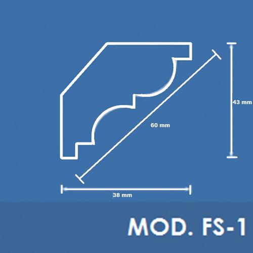 moldura roda teto de isopor mod. fs-1 - ferrari molduras