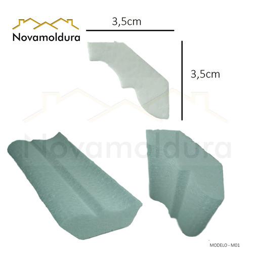 moldura teto isopor substitui gesso rodaforro sanca eps m01