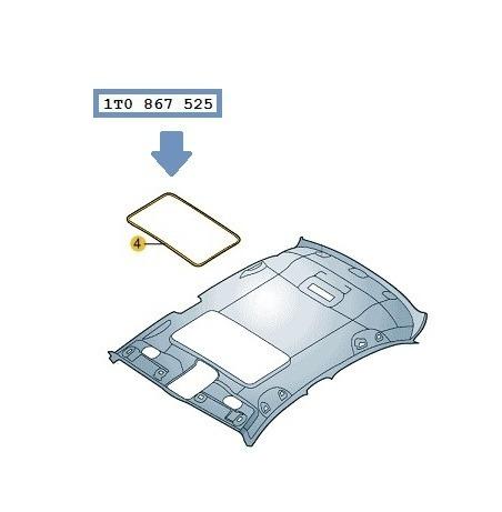 moldura  teto  solar  jetta  2005  a  2017