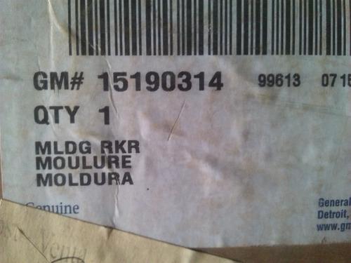 moldura trasera estribo derecho trailblazer  2003 gm15190314