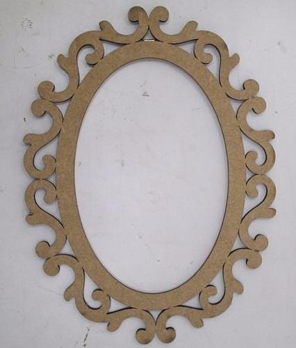 Moldura vazada mdf espelho 60 cm r 15 00 em mercado livre for Molduras para espejos online