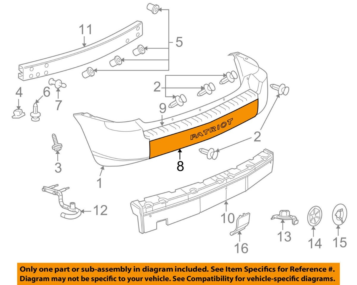 Moldura Visel De Facia Trasera Jeep Patriot 2007 2010 699000 Engine Diagram Cargando Zoom
